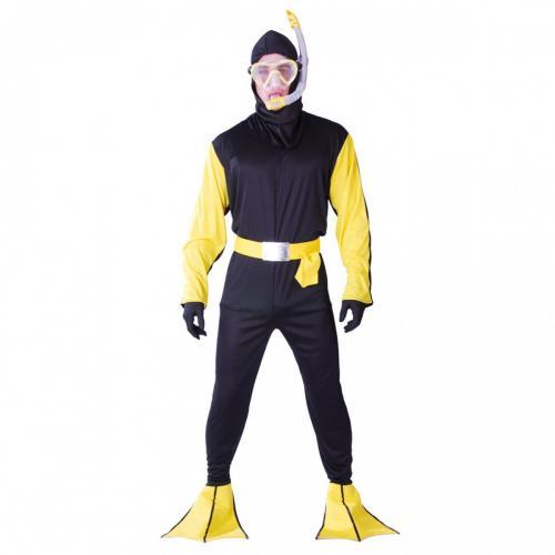 Plongeur homme noir jaune tu